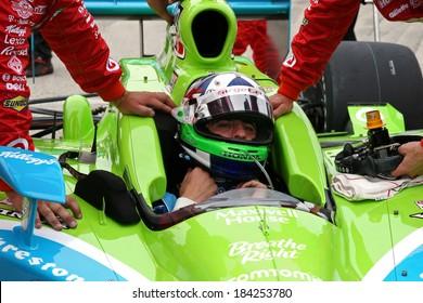 MILWAUKEE, WISCONSIN, USA - JUNE 19, 2011: No. 10 Dario Franchitti, United Kingdom Chip Ganassi Racing