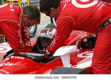 MILWAUKEE, WISCONSIN, USA - JUNE 19, 2011:  No. 9 Scott Dixon, New Zealand Chip Ganassi Racing