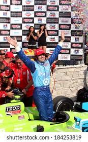 MILWAUKEE, WISCONSIN, USA - JUNE 19, 2011: No. 10 Dario Franchitti, United Kingdom Chip Ganassi Racing,  race winner