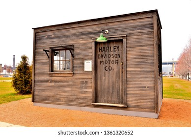 Milwaukee, Wisconsin / USA - March 6, 2019:  The Shed at the Harley Davidson Museum.