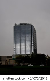 Milwaukee, Wisconsin / USA - May 25, 2019:  The New 833 East Building in Milwaukee on a very cloudy Memorial Weekend.