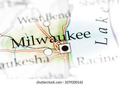 Milwaukee, Wisconsin, USA on a map.