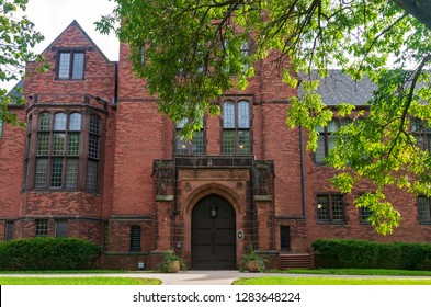 MILWAUKEE, WI/USA –SEPTEMBER 2, 2018:  Chapman Hall building at University of Wisconsin Milwaukee. The university consists of 14 colleges and schools, and offers a total of 191 degree programs.