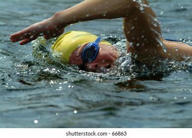 Mimi swimming