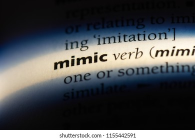 mimic word in a dictionary. mimic concept.