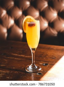 Mimosa champagne drink for brunch