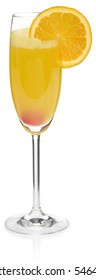 Mimosa Cocktail - isolated on white