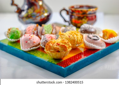 Mimouna Cookies. Arabic Sweets. Middle Eastern Desserts. Festive Moroccan And Henna Cookies.