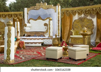 Mimuna (1st day After Passover) celebration , marrocan traditional designed hosting