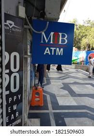 A min ATM signboard at its branch  - Karachi Pakistan - Sep 2020