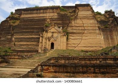 Min kun sightseeing in Myanmar