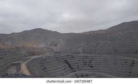 Mina los colorados .. Iron deposit located in Atacama .. Chile - Shutterstock ID 1457185487