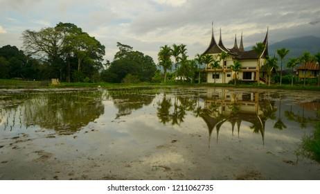 a minang architecture house in kotogadang, sumatera barat