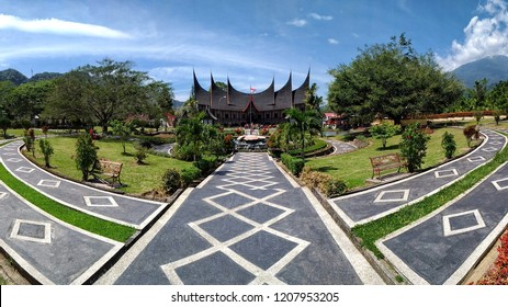 Minang Village in a panoramic frame
