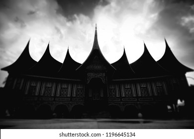 Minangkabau traditional big house (Rumah gadang)