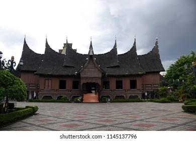 Minangkabau, West Sumatra, Indonesia - Rumah Gadang, traditional Indonesian houses, April, 2014