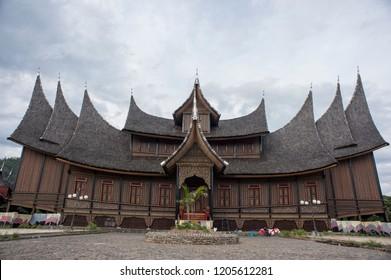 Minangkabau, West Sumatra, Indonesia - Rumah Gadang Pagaruyung, Indonesian traditional house.