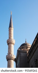 Minaret and dome on the Blue Mosque, Istanbul, Turkey