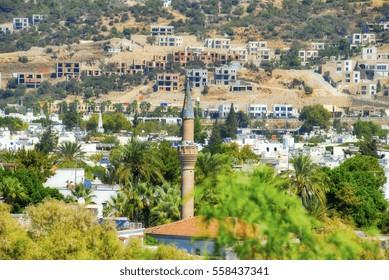 Minaret Facing the Town of Bodrum, Turkey