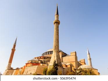 MInaret of the Hagia Sophia, Istanbul, Turkey