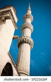 A minaret in Istanbul