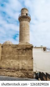 Minaret of the Juma Mosque in Baku city