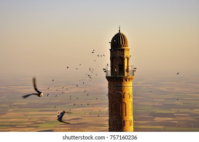Minaret of a Mosque in Mardin, Turkey