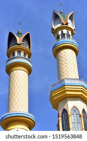 Minarets of the Indonesia İslam Center Mosque in Lombok Island, Indonesia