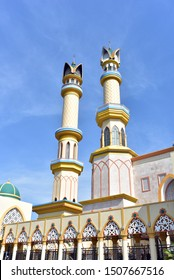 The minarets of the Islamic Center Mosque in Lombok Island, Indonesia