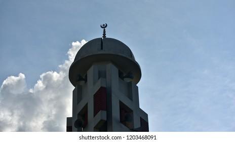 Minarets of a mosque isolated unique photo