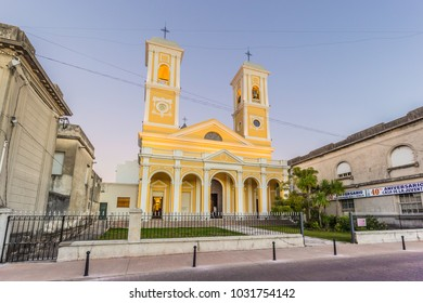 Minas - July 02, 2017: Church in the center of Minas, Uruguay