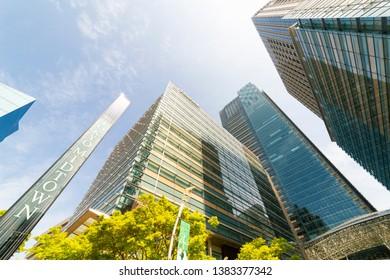 Minato, Tokyo, Japan-April 20, 2019: Tokyo Midtown: Tokyo Midtown is a 569,000-square-meter mixed-use development in Akasaka, Tokyo, Japan.