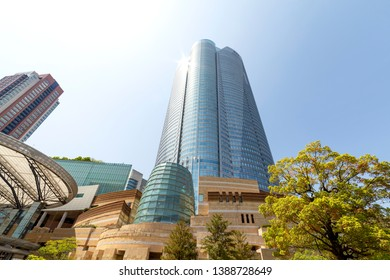 Minato, Tokyo, Japan-April 20, 2019: Roppongi Hills is a development project in Tokyo and one of Japan's largest integrated property developments, located in the Roppongi district of Minato, Tokyo.