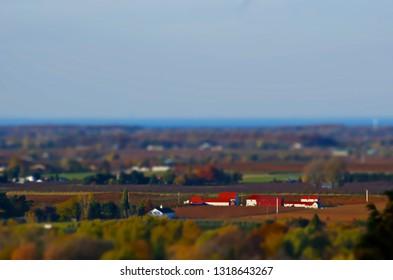 Minature Farmland Tilt shift
