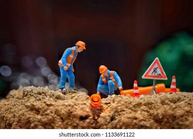 minature of worker, batam, 17 March 2018.
