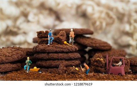 Minatures Digging in the biscuits