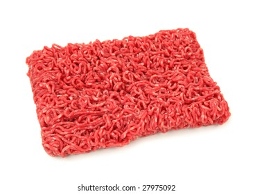 Minced beef isolated on white background