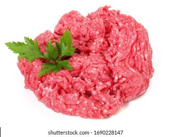 Minced Beef with Onions - isoladet on white background