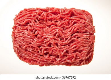 Minced meat istolated on white.