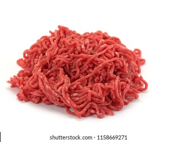 Minced meat on a white background - Shutterstock ID 1158669271