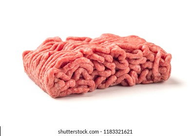 Minced meat, pork, beef, forcemeat, clipping path, isolated on white background