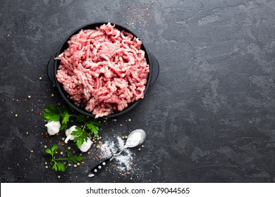 Mincemeat, minced or ground meat
