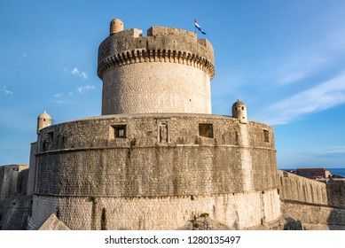 Minceta Fort on the world famous city walls of Dubrovnik, Croatia