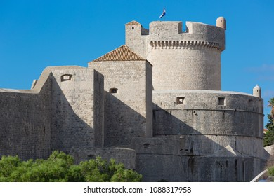 Minceta Tower (Tvrdava Minceta), the strong fort and the highest point of Dubrovnik City Walls, Dubrovnik, Croatia