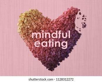 Mindful Eating concept using oat bite