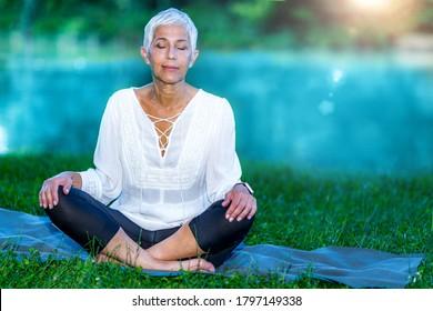 Free older women Meditation Older Woman Images Stock Photos Vectors Shutterstock
