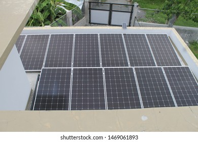 Mindoro, Philippines - 08/03/2019: The use of bioenergy is starting spread just like in the Philippines. More and more people are installing solar panels for houses, commercial use also for farm use.