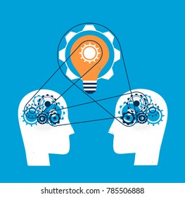 Minds work together for a great idea of industry 4.0