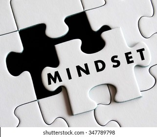 Mindset text on missing puzzle.