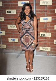 Mindy Kaling at the Fox Fall Eco-Casino Party in Culver City. September 10, 2012  Culver City, CA Picture: Paul Smith